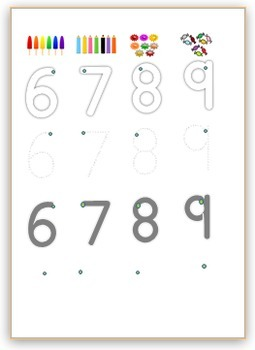 Bundle step by step writing letters and numbers