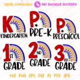 Bundle svg Rainbow 1st 2nd 3rd grade shirt Pre-k Preschool