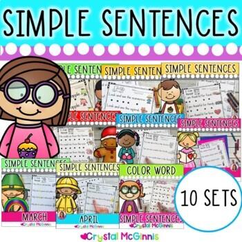 Bundle 1! Simple Predictable Sentences for Beginning Readers