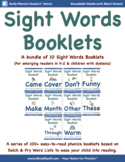 Bundle11: Sight Word Booklets with Short Vowels(Based on D