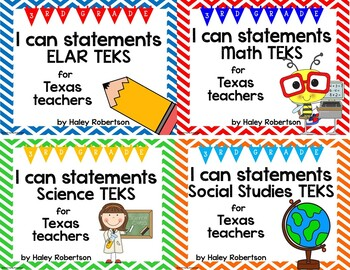 **Bundle**All 4 subjects TEKS posters!! (3rd grade)- Chevron pattern