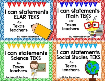 **Bundle**All 4 subjects TEKS posters!! (3rd grade)- Circle pattern