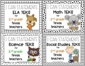 **Bundle**All 4 subjects TEKS posters!! (3rd grade)- Tile pattern
