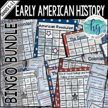 Early American History Bingo Bundle