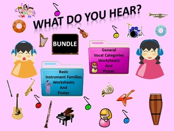Bundle:Listening Activity Worksheets & Posters: Basic Inst