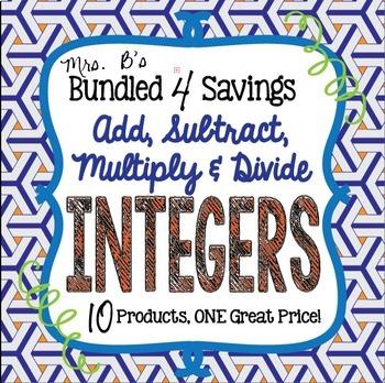 Bundled 4 Savings:  Add, Subtract, Multiply & Divide Integers
