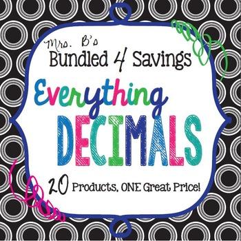 Bundled 4 Savings:  Everything Decimals