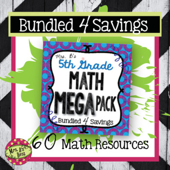 Bundled 4 Savings:  Fifth Grade Math Mega Pack
