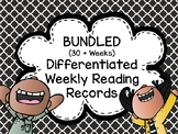 BUNDLE ALL SETS Differentiated Weekly Reading Logs