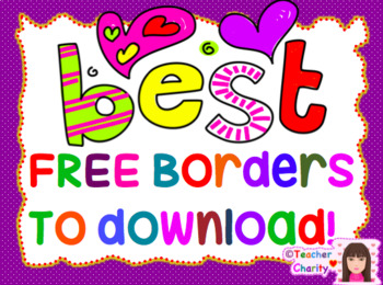FREE BUNDLED 40 Borders/ Frames for your Main Cover