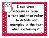Bundled 4th Grade Math & Language CCSS I Can Statements -