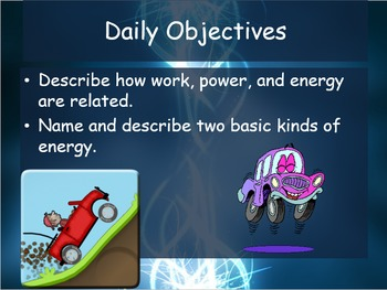 Bundled 5.1 What is Energy - Work, Power, and Energy - Guided notes & PowerPoint