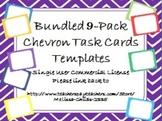 Bundled 9 Color Pack Chevron Task Card/Scoot Card Templates