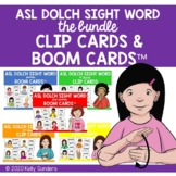 Bundled ASL Dolch Sight Word Clip Cards & Boom Cards for D
