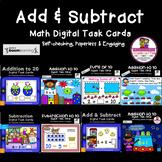 BOOM cards Kindergarten Bundled Addition & Subtraction  (D