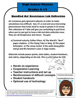 Bundled Air Resistance Labs and Activities - Multi-level