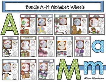 Bundled Alphabet Wheels A-M