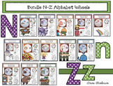 Alphabet Crafts  Alphabet Activities  Bundled Alphabet Wheels N-Z