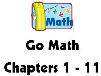 Bundled Answer Keys for Go Math Exit Slips Chapters 1 through 11