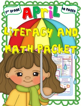 Bundled April Literacy and Math Packet/Easter Activities/ Egg Scavenger Hunt