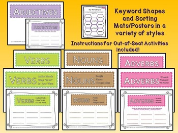 Bundled Bargain - Interactive Vocabulary Task Cards-Quiz-Printables-Units A,B&C