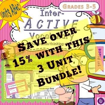 Bundled Bargain - Interactive Vocabulary Task Cards-Quiz-P