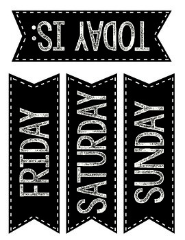 Bundled! Black calendar pieces! Months, Days of the week & Numbers!