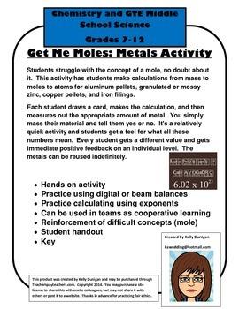 Bundled Both Get Me Moles Activities - Chemistry