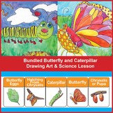 Bundled Butterfly & Caterpillar Art & Science Lesson with Butterfly Life Cycle