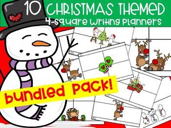Bundled Christmas 4-square Writing Planners