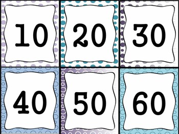 Bundled Classroom Labels: 175+ ready to print labels  (blue/purple polka dots)