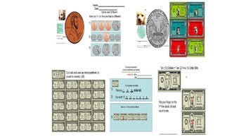 Bundled Coins & Bills Activity Packets Rescue Dogs ELD/SPED/Autism/VI