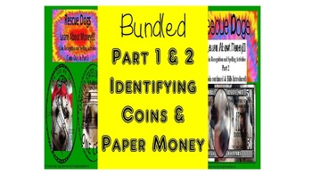 Bundled Coins & Bills Activity Packets Rescue Dogs ELD/SPE
