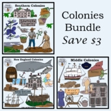 Bundled Colonies (Middle, Southern, New England) Clip Art