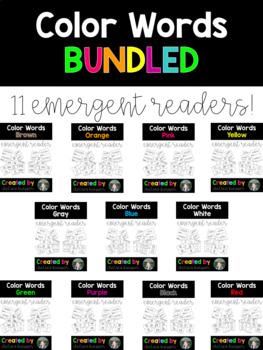 Bundled Color Words Emergent Readers