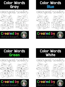 Bundled Color Words Emergent Readers