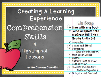 McGraw Hill Third Grade Comprehension Skills: 9 High Impact Engaging Lessons
