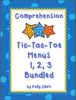 Bundled Comprehension Tic-Tac-Toe Menus {3 Menus for Less $}