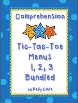 Bundled Comprehension Tic-Tac-Toe Menus {3 Menus for Less $}