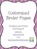 Bundled Editable Binder Pages