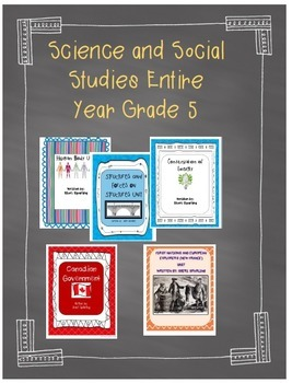 Bundled Entire Social Studies and Science For Grade 5! * Growing