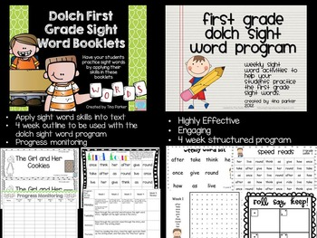Bundled First Grade Dolch Sight Word Program and Booklets