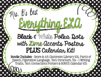 Bundled For Savings-All ELA Black and White Polka Dot with