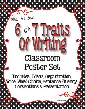 Bundled For Savings - All ELA Black and White Polka Dot with Red Accents Posters