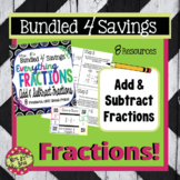 Updated! Bundled For Savings - Everything Adding and Subtracting  Fractions