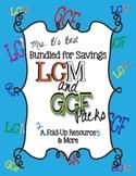 Bundled For Savings - LCM & GCF Fold-Up and More Packs