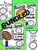Super Bowl Time  Telling Time Hour, Half Hour, Quarter and 5 Minutes