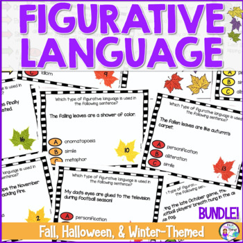 Bundled Halloween, Fall, and Winter Figurative Language Ta