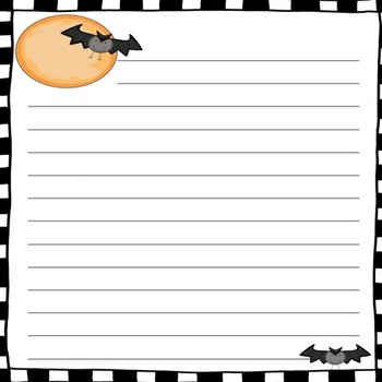 Halloween Figurative Language Task Cards and Halloween-Themed Paper Bundle