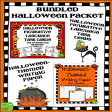 Halloween Figurative Language Task Cards and Halloween-The